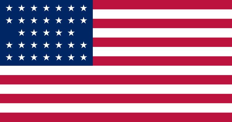 USofA flag 33 stars