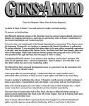 guns & ammo apology