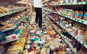 groceries post earthquake