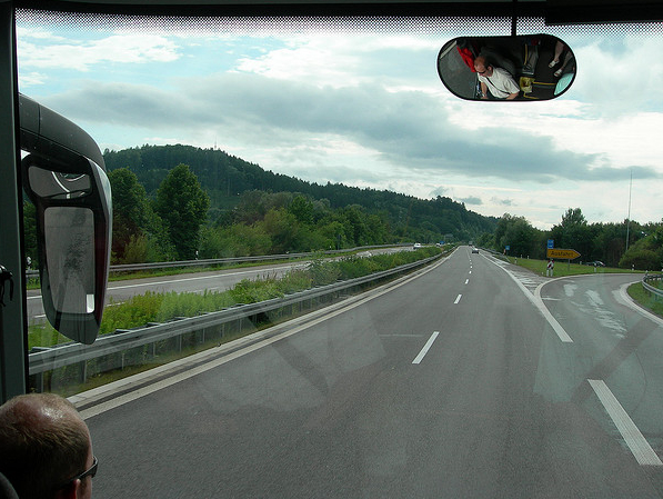 bus driver's view