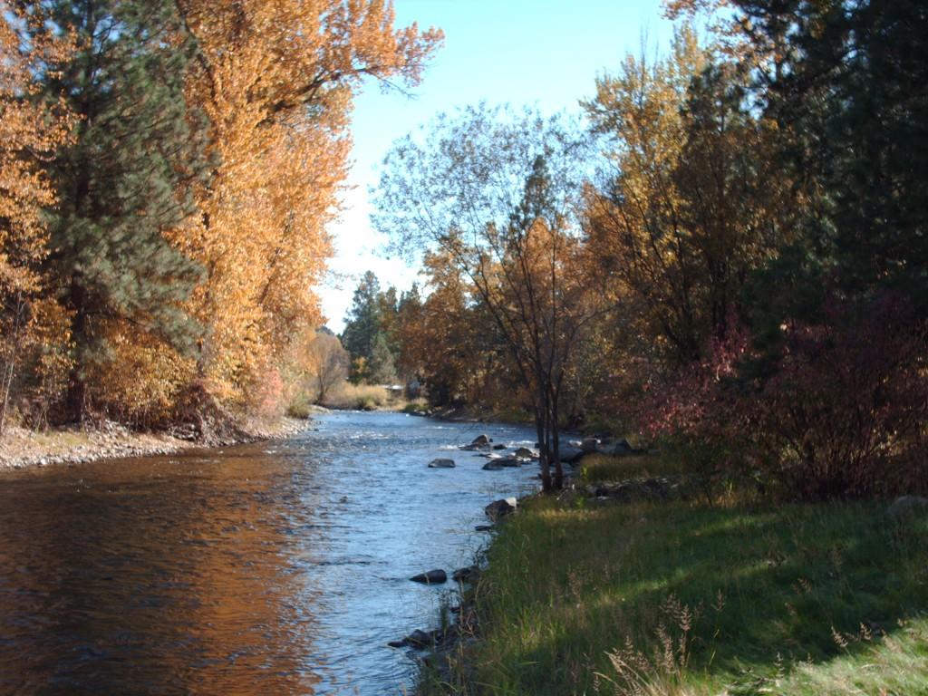 upstream from yard