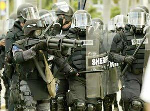 Riot-cops
