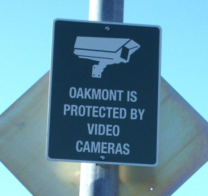 protected by cameras