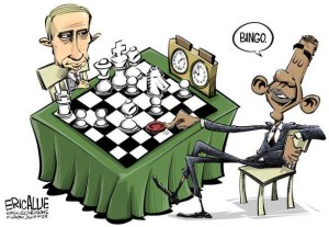 putin chess - obama bingo