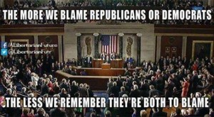 the more we blame Rs and Ds