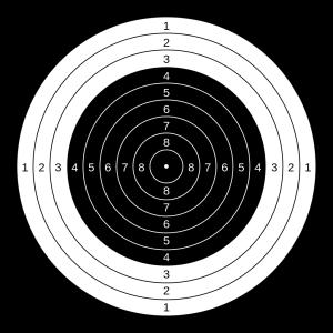 10-meter air rifle target