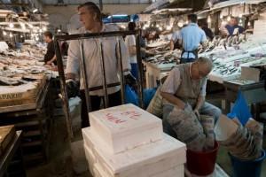 Greek fish market