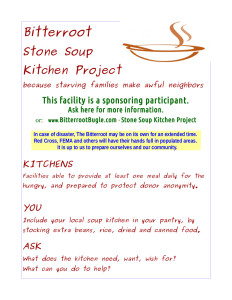 Stone Soup Kitchen Project