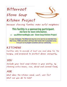 Stone Soup Kitchen Project