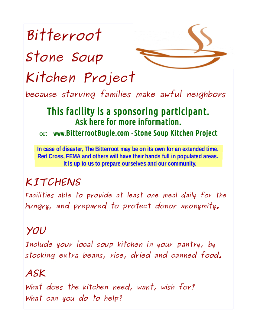 Stone Soup Kitchen Project « Bitterroot Bugle