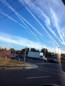 chemtrails over Manassas Virginia