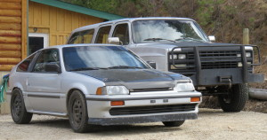 the CRX and The Beast small