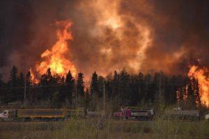 Alberta forest fire