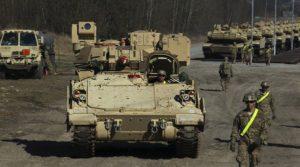 NATO massing APCs