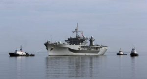 USS Mount Whitney, flagship of the US Navy 6th fleet, has arrived to Estonia