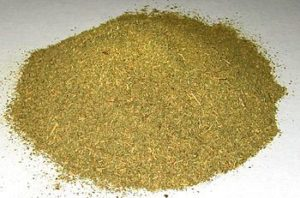 Typical powdered commercial Kratom, Mitragyna speciosa. (Photo credit: Wikipedia)